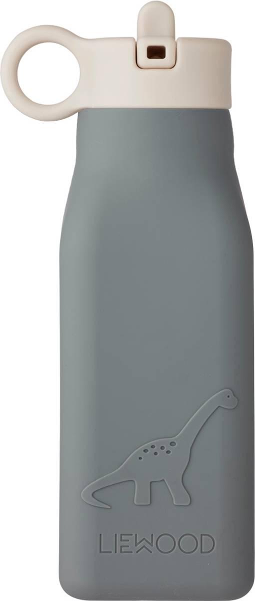 Liewood Warren drikkeflaske i silikon - dino wave blue