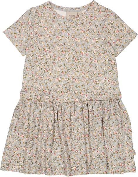 Bilde av Wheat Adea kjole mini - dusty dove flowers
