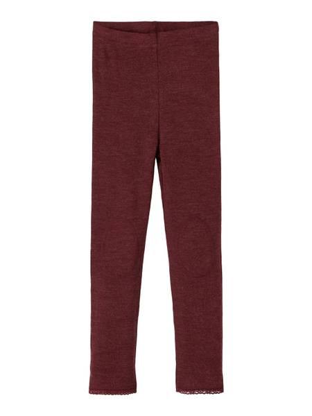 Bilde av Name It Wang Wool needle leggings mini - red