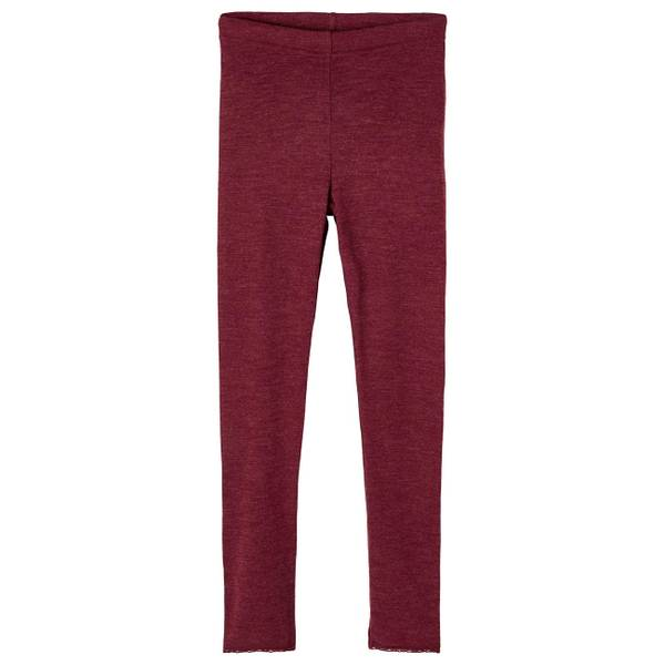 Bilde av Name It Wang Wool needle leggings kids - red
