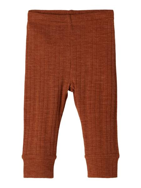 Bilde av Name It Wang Wool needle leggings baby - mocha