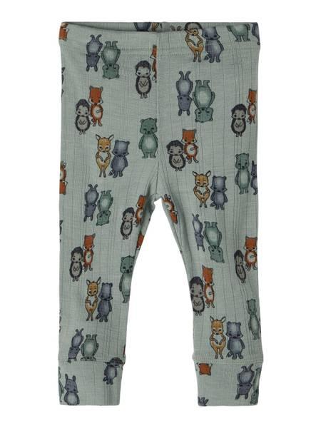 Bilde av Name It Wang Wool needle leggings baby - lily pad