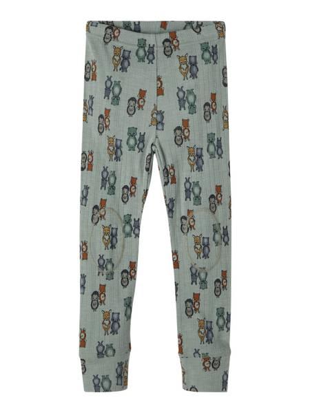 Bilde av Name It Wang Wool needle leggings mini - lily pad