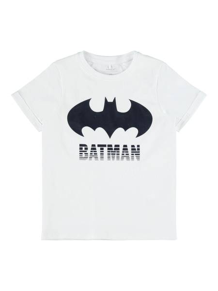 Bilde av Name It Batman Core t-skjorte - bright white