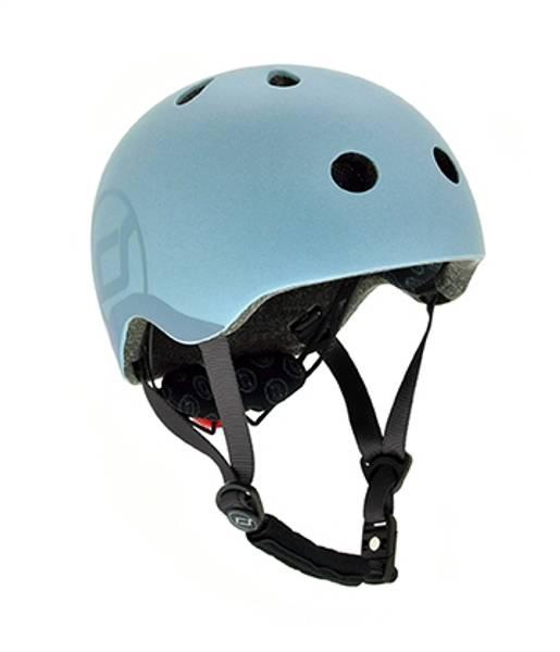 Bilde av Scoot & Ride hjelm - Steel - 3-7år