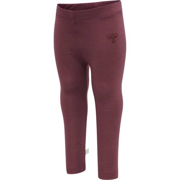 Bilde av Hummel Wolly ull/bambus leggings - roan rouge
