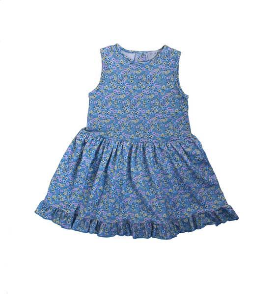 Bilde av Vilje & Ve Stella kjole - blå blomst