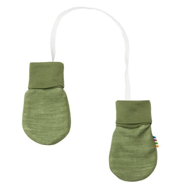 Bilde av Joha Wood ull/bambus babyvotter- salvie