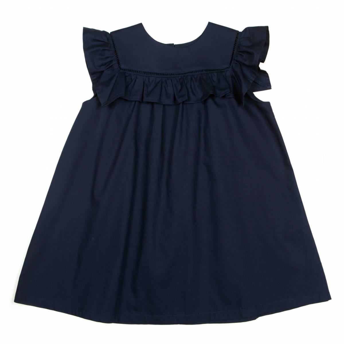 Huttelihut Crowny kjole - navy poplin
