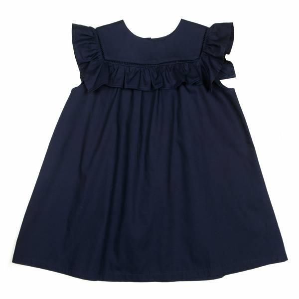 Bilde av Huttelihut Crowny kjole - navy poplin