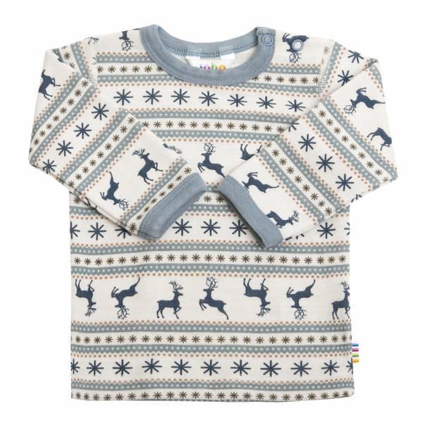 Bilde av Joha Jumping Deer ull trøye mini - blå