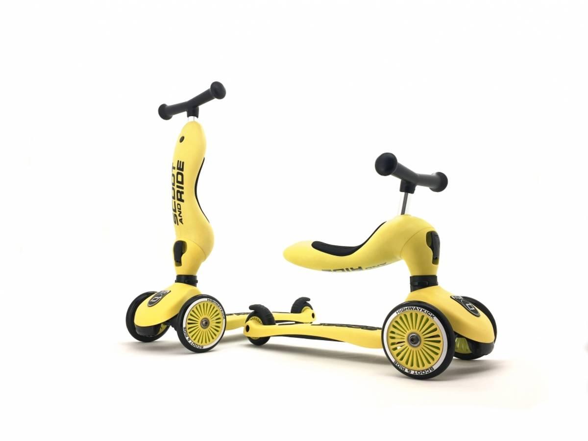 Scoot & Ride Highwaykick 1 sparkesykkel - lemon