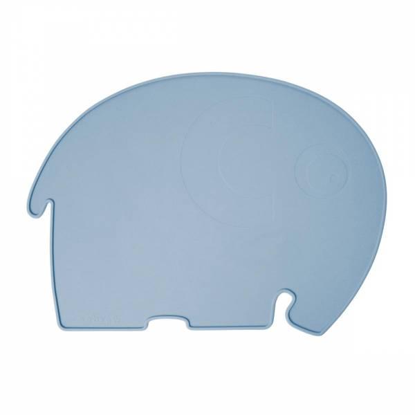 Bilde av Sebra spisebrikke med elefant - powder blue