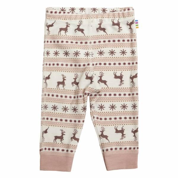 Bilde av Joha Jumping Deer ull leggings - rosa
