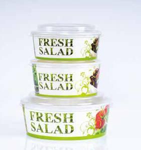 Bilde av Salatbolle med lokk, 750 ml. Krt a 300 stk