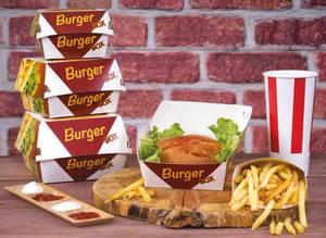 Bilde av Burger boks emballasje krt a 300 stk
