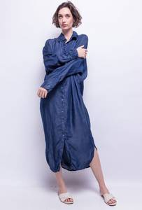 Bilde av lang kjole m/knapper