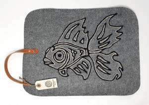 Bilde av Sitteunderlag lysegrå/grå gullfisk