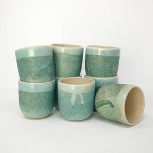 Bilde av Keramikkrus i turkis glasur 2