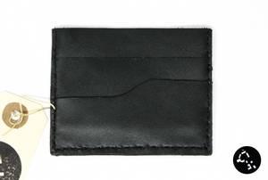 Bilde av Kortholder i svart skinn 1