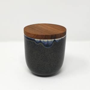 Bilde av Duftlys med trelokk - Mørk Blå