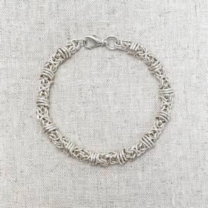 Bilde av Kongelenke m ringer sølvarmbånd