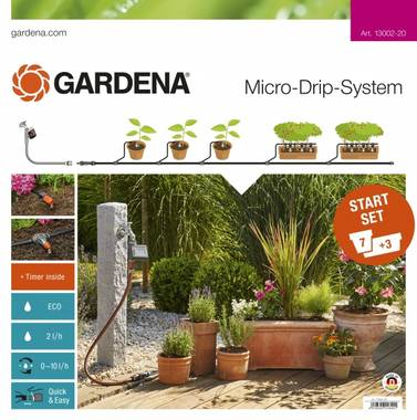 Micro-Drip sett med automatisk timer