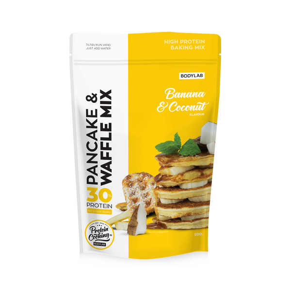 Bodylab Pancake & Waffle Mix 500g - Banana Coconut