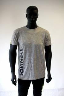 T-skjorte, grå merinoull
