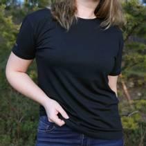 T-skjorte Merinoull Unisex Svart