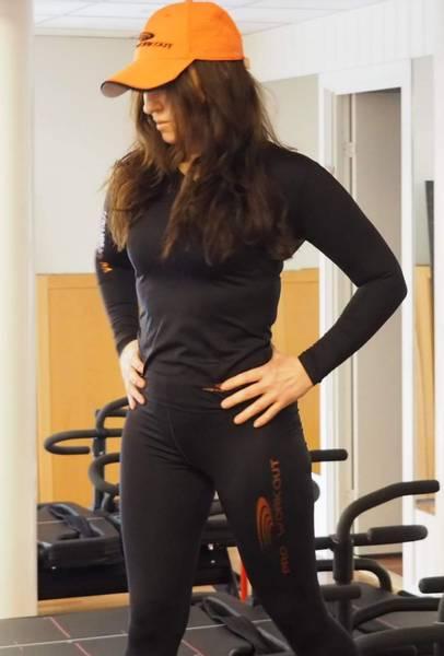 naturall dame V-hals superFLX lang treningsskjorte - all sports
