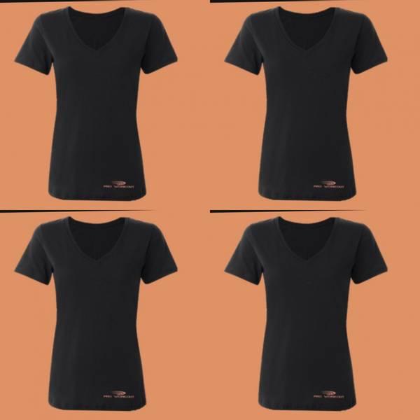 Bilde av dame naturall V-hals superFLX kort treningsskjorte - all sports