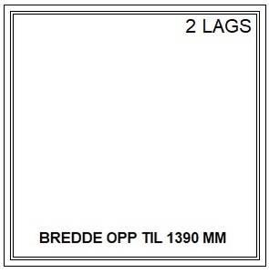 Bilde av PVC FAST VINDU - 2 LAGS - bredde opp til 1390 mm