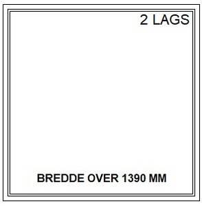 Bilde av PVC FAST VINDU - 2 LAGS - bredde over 1390 mm