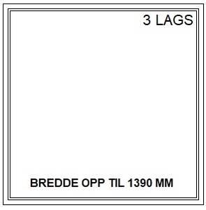 Bilde av PVC FAST VINDU - 3 LAGS - bredde opp til 1390 mm