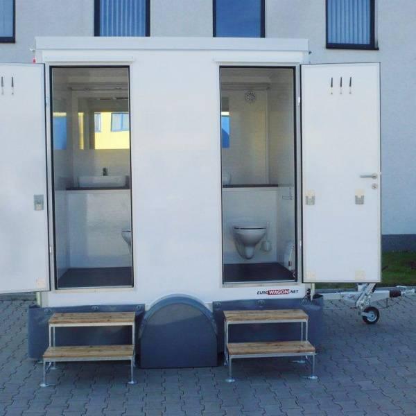 Bilde av Toalettvogn med 2 toaletter, med vann og avløp