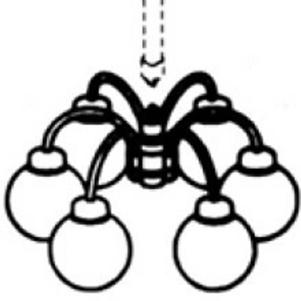 Bilde av Lyskupler 5 armet