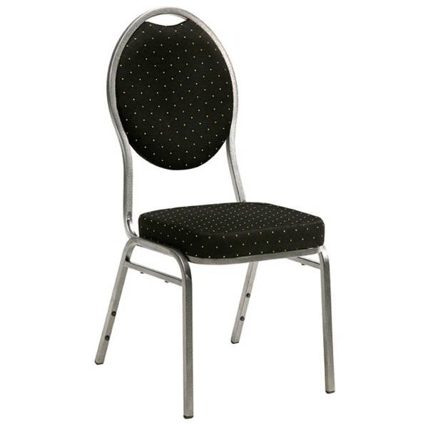 Bilde av Brukt Banquet Steel stol - sort