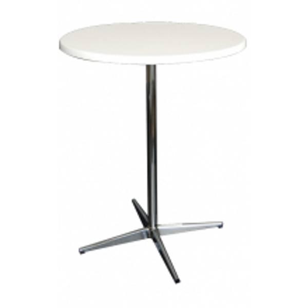Bilde av Ståbord hvit bordplate  Ø 70 cm