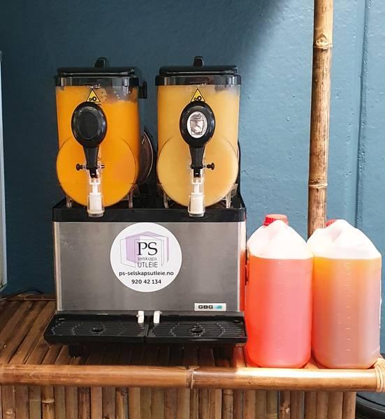 Bilde av Slush maskin 2 kammer med 10 liter ublandet mix