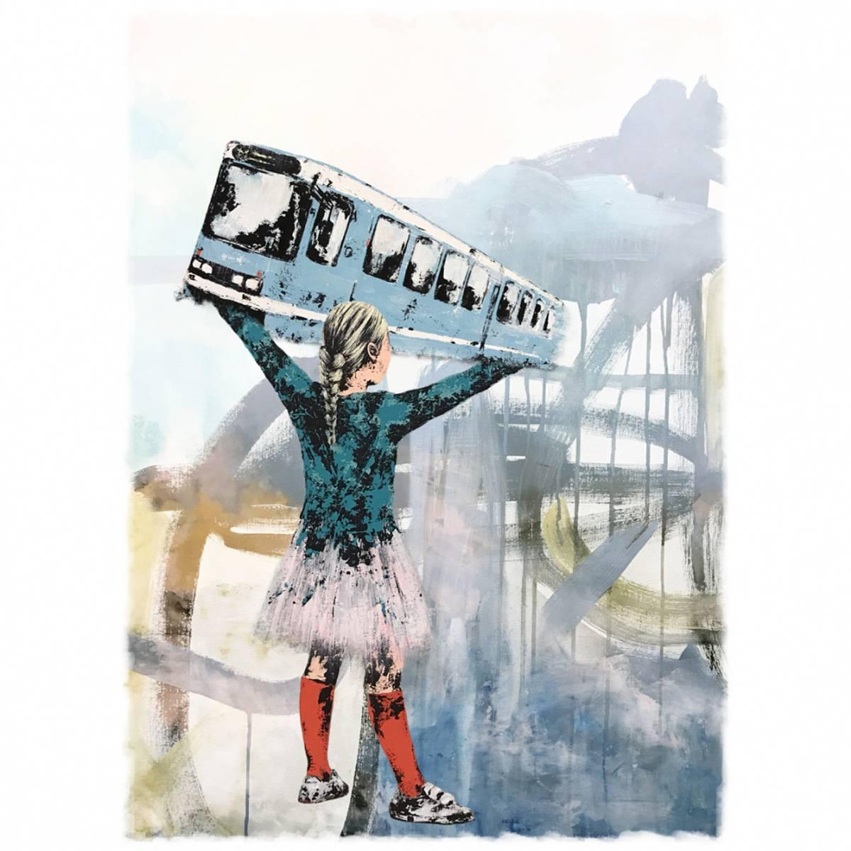 BYJENTE (30x40cm) kunstplakat