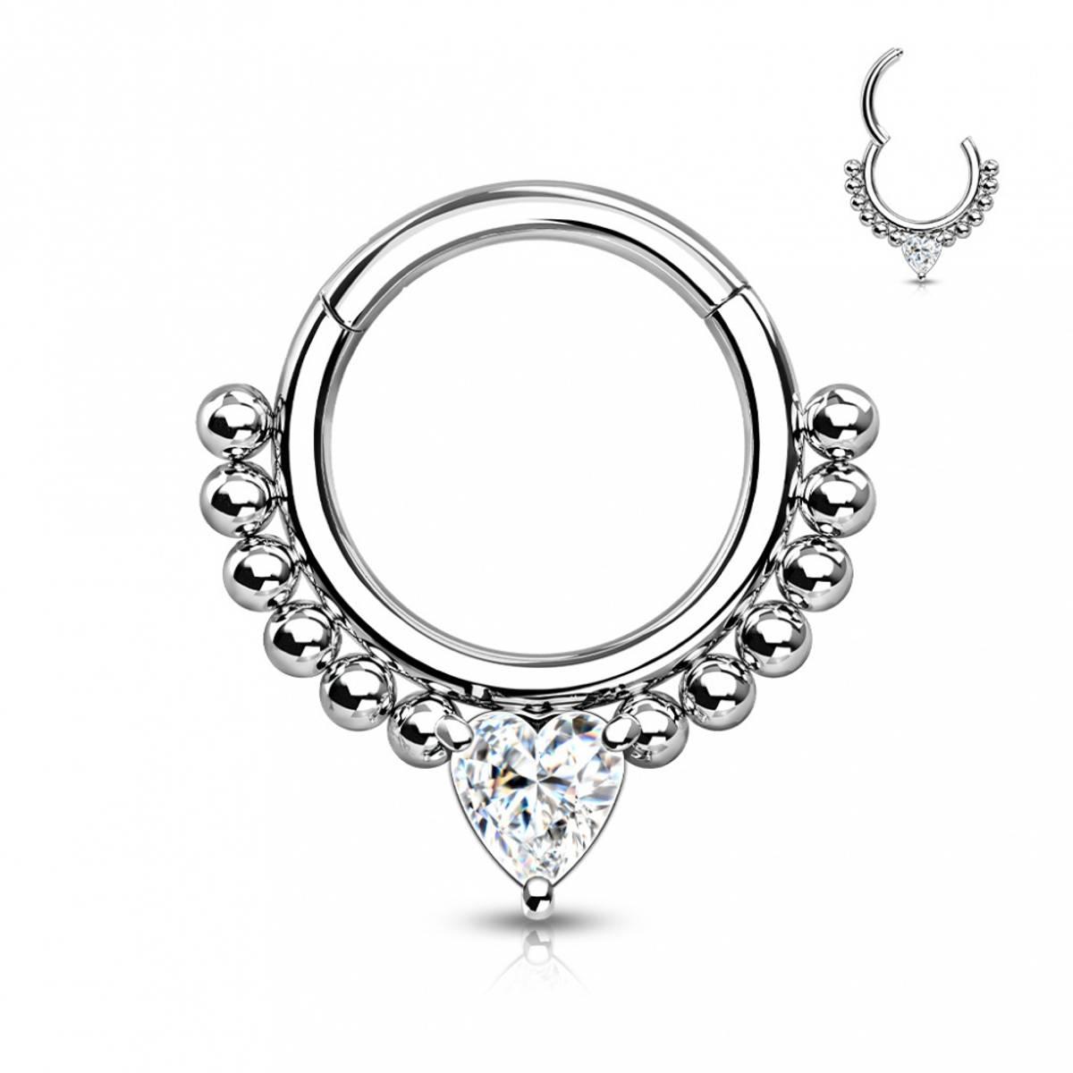 Heartless Front Facing Hinged Ring