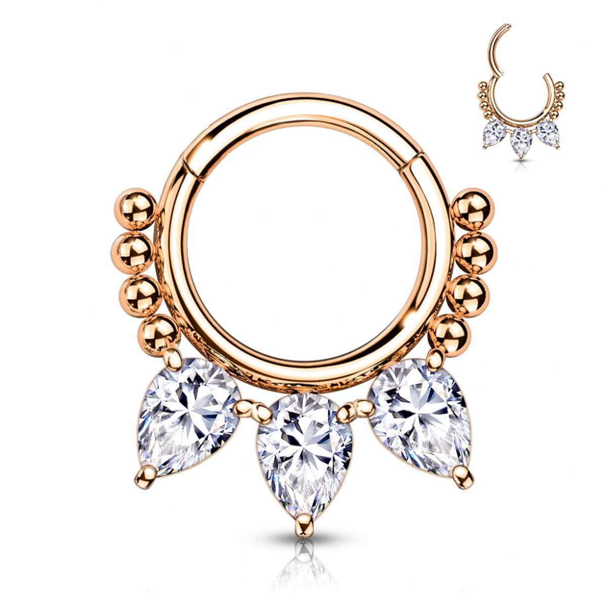 Talia Front Facing Hinged Ring Rose Gold