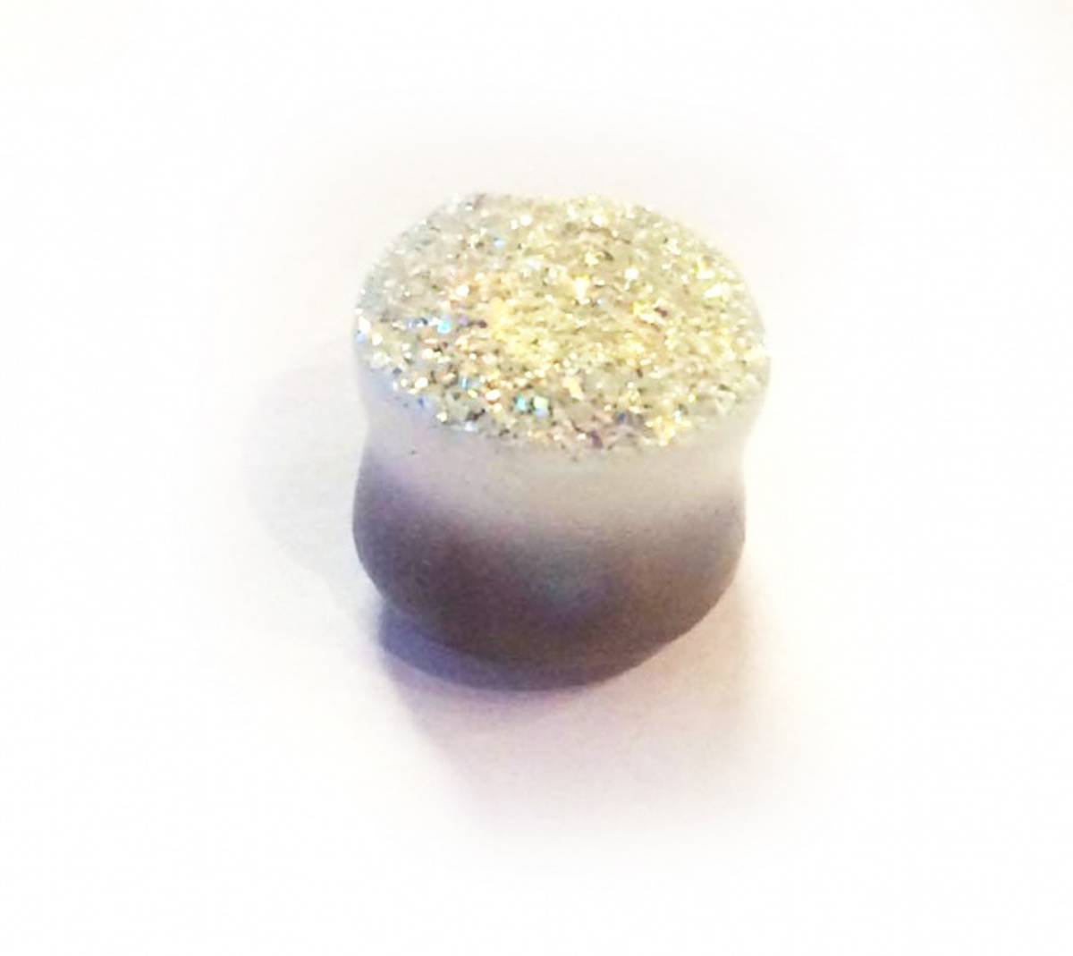 Snow Glitter Stone Plugg 16mm