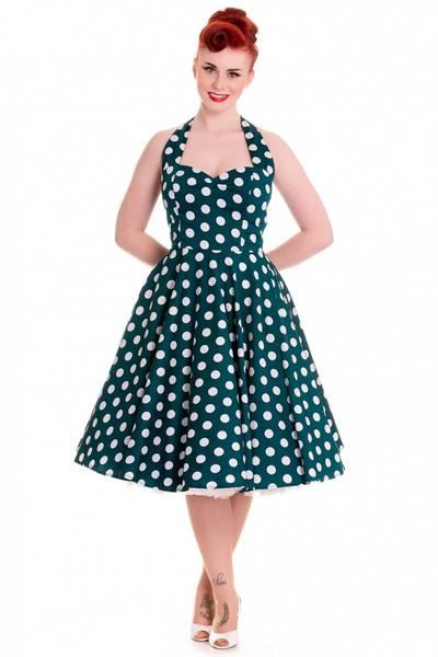 Bilde av Polka Dots Mariam Dress Teal