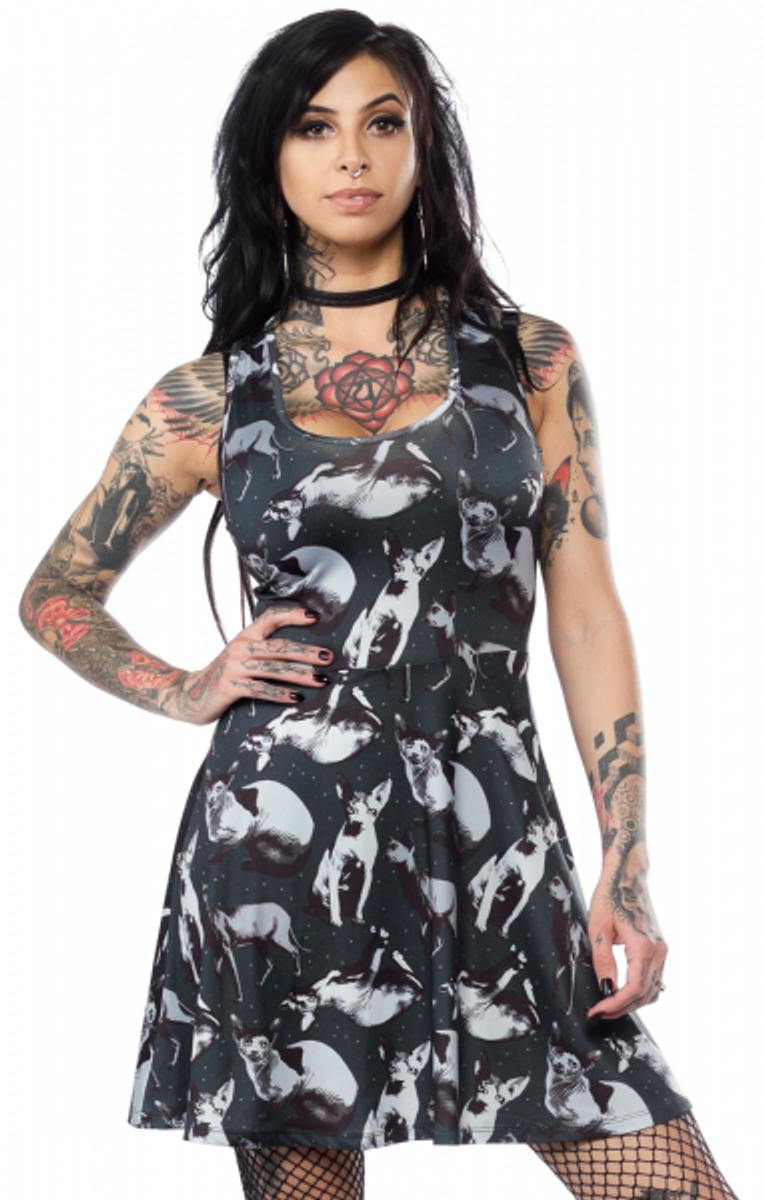 Sphynx Skater Dress
