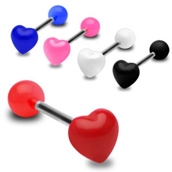 Bilde av Heart Acrylic Barbell