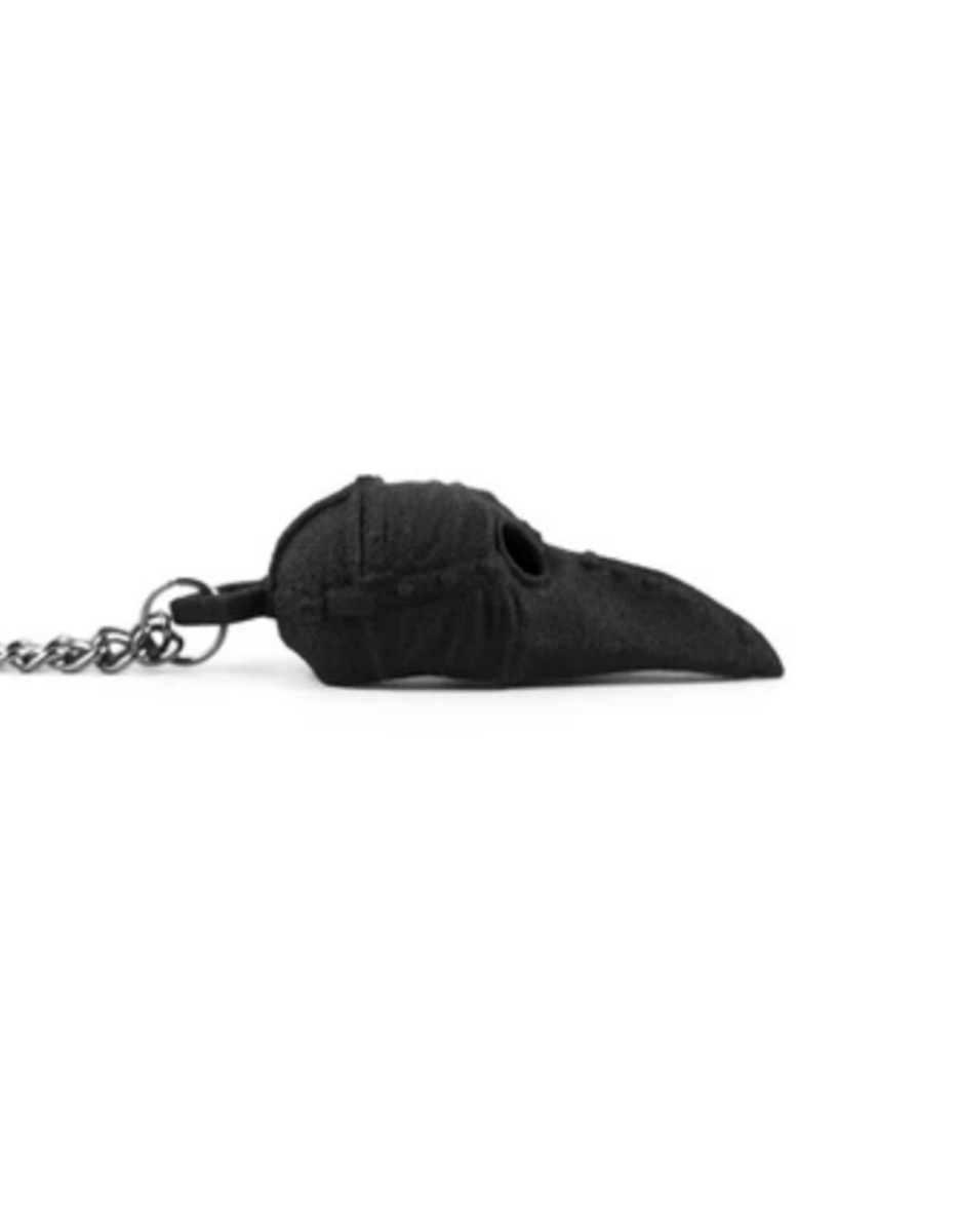 Plague Doctor Necklace in Black