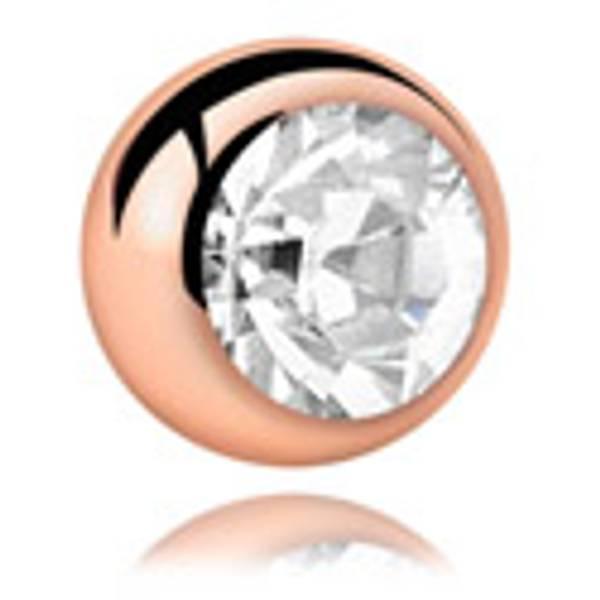 Bilde av 1,2mm Rose gold jeweled ball