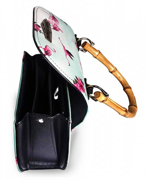 Bilde av Flamingos Teal bamboo purse
